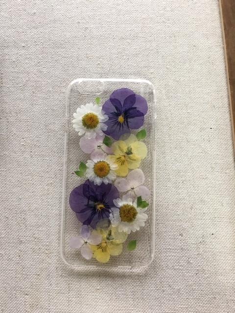 iphone6/6S ビオラ 押し花ケース