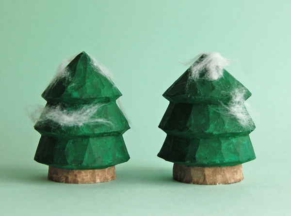 木彫りの木  2本セット [MWF-245]