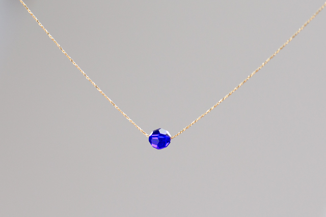 一粒ネックレス -cobalt blue-