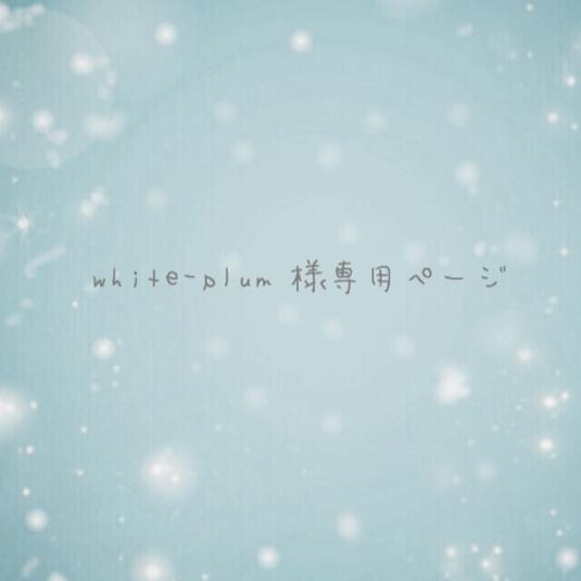 white-plum様専用ページ