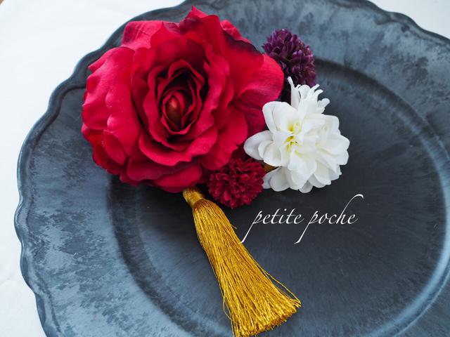 晴れの日の髪飾り *rose red*