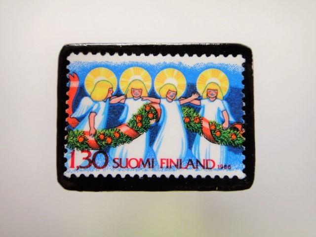 フィンランド クリスマス切手ブローチ1926