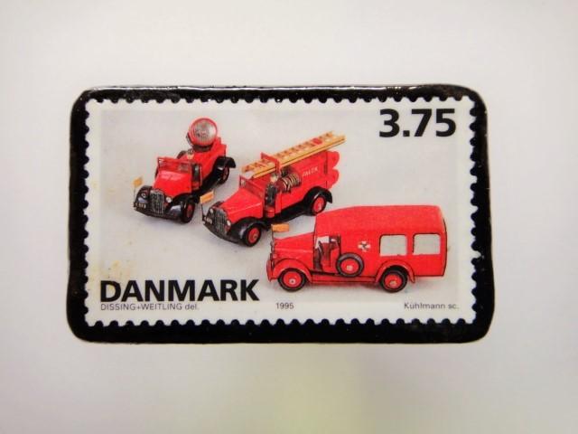 デンマーク クリスマス切手ブローチ1928