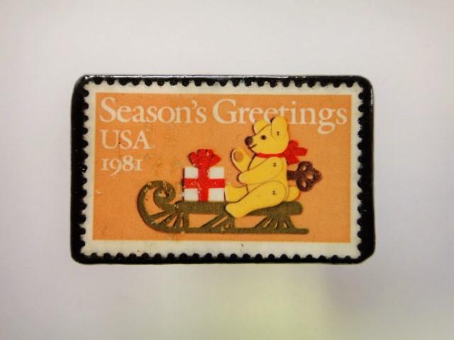 「再販」アメリカ クリスマス切手ブロ...