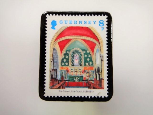 ガンジー クリスマス切手ブローチ1961