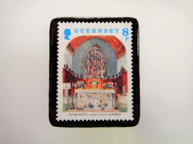 ガンジー クリスマス切手ブローチ1962