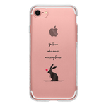 Rabbit with heart 11pro 11promax 11 XS XR XSmax X 8 8Plus 7 7Plus 6 5 iPhone ケース