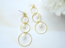 *1126*Three hoops earring/pierce