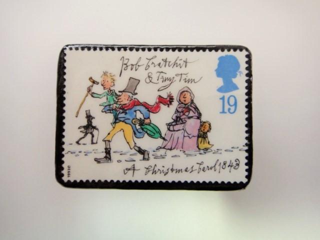 イギリス クリスマス切手ブローチ1979