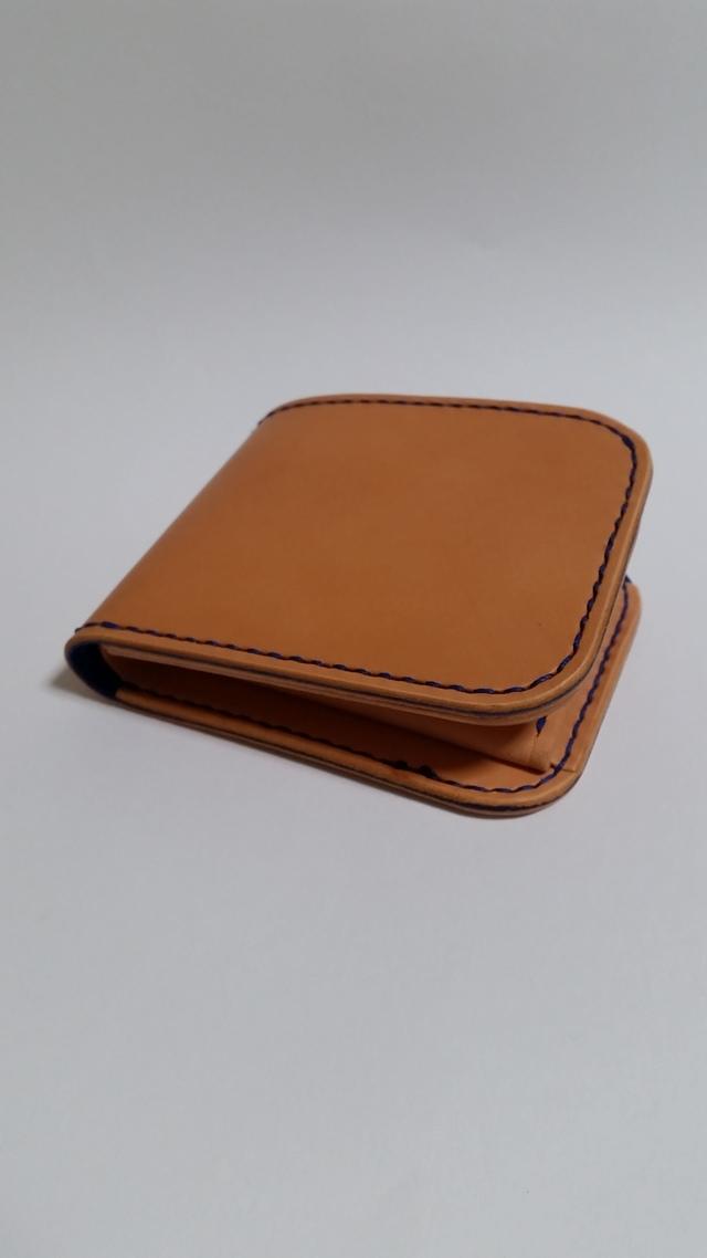 青色仕様ラティーゴの二つ折り財布