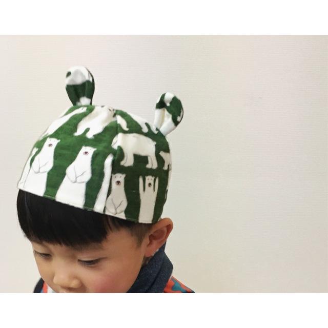 耳付きくまさん帽子*50cm