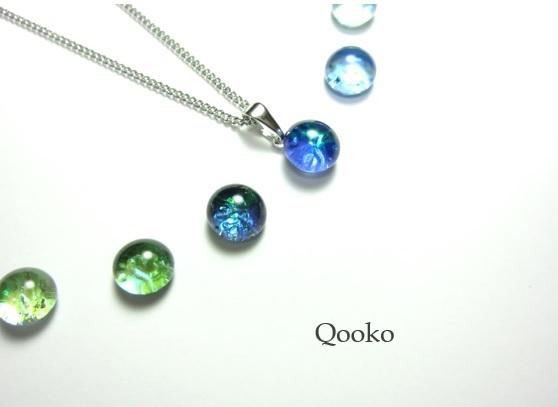 ガラスの水滴ネックレス 【 オパール 】