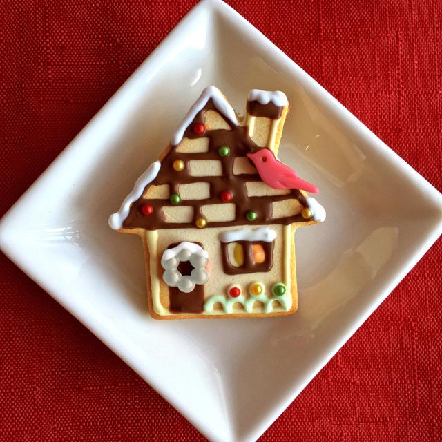 クリスマスのお家 クッキーのブローチ...