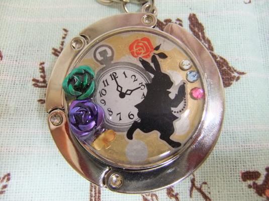 【童話シリーズ】時計うさぎのバッグチャーム