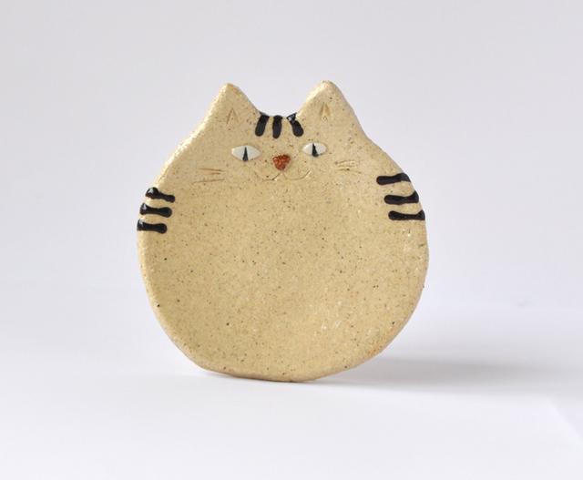 茶トラ猫の小皿