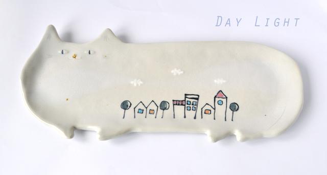 ほし猫の長皿 Day-Light (大)
