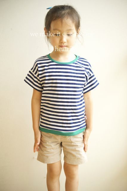 【size100】 ボーダーTシャツ