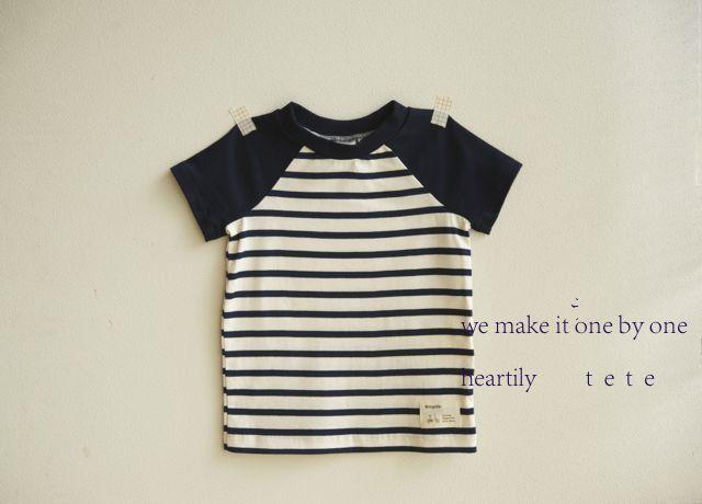 【size100】ラグランTシャツ(紺)