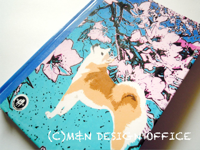 「柴犬と桜」ハードカバーノートpart2