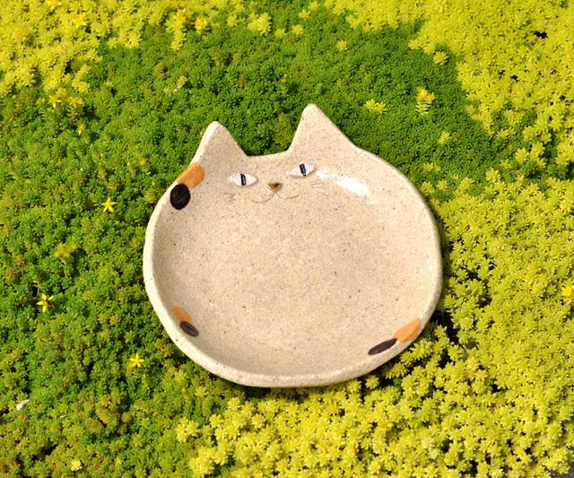 ねこ皿(三毛)レギュラーサイズ