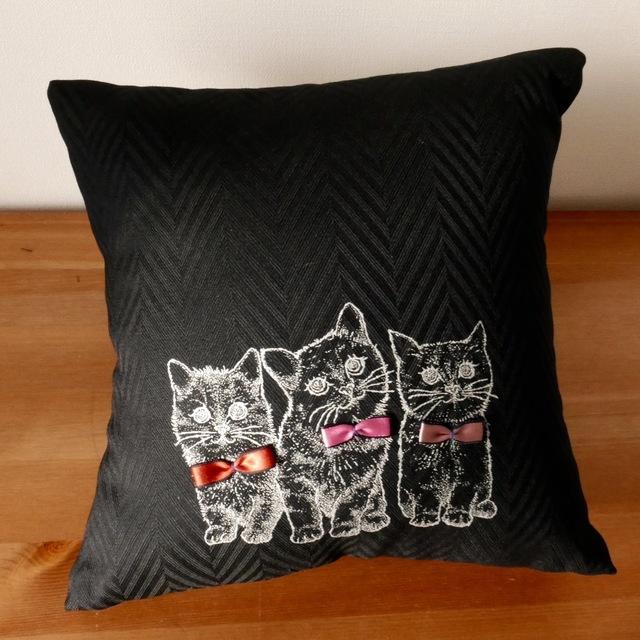 ミニクッション - three little kittens