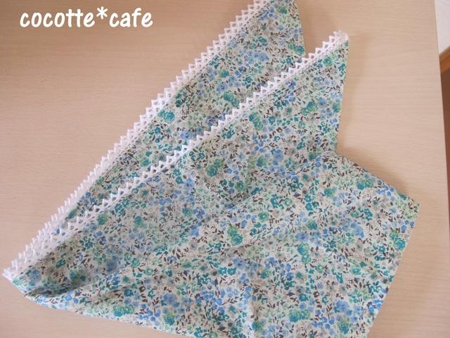 大人な花柄の三角巾♪