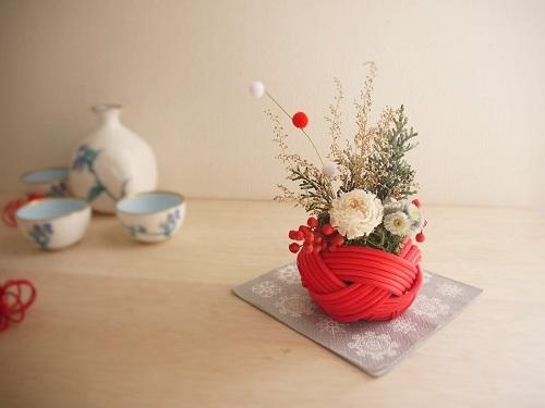 プティラタンお正月紅・餅花
