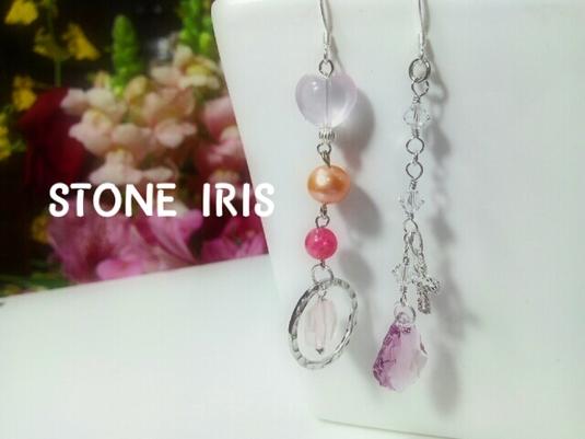 ◆シンプルかわいい?シルバー&ピンクのピアス!!スワロフスキーもプラス?