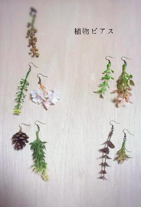 植物ピアス