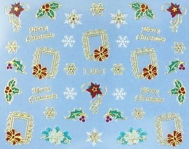【レジン・ネイル】 クリスマス 高品質ネイルシール TJ049