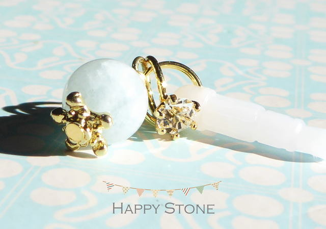 Happy*アクアマリンとリングのイヤホン...