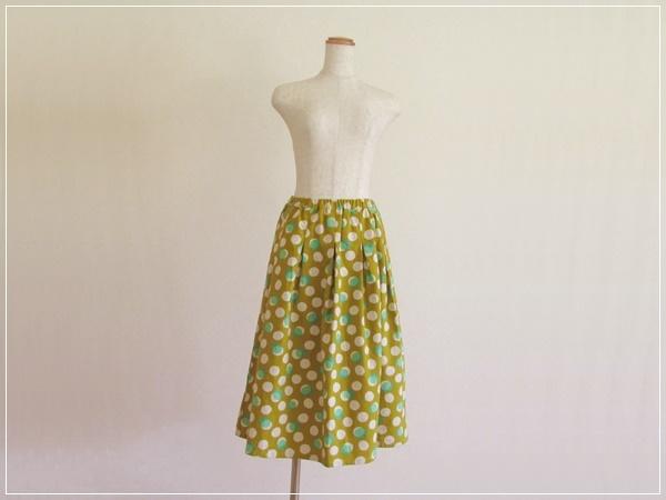 yellow* しゃぼんだま ギャザースカート