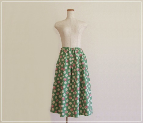 green* しゃぼんだま ギャザースカート