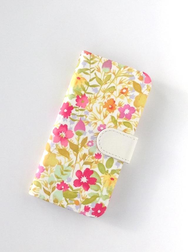 リバティ iphone7手帳型ケース(ロチェ...