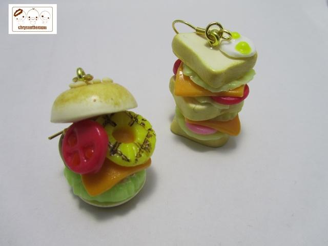 【NEW!】食べちゃダメよ!チーズバーガーとサンドイッチピアス