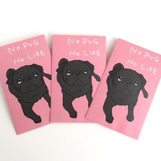 PUG ポチ袋 【ピンク】