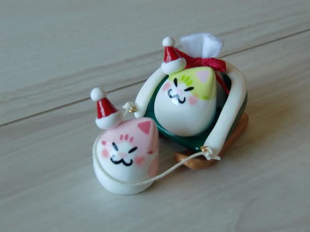送料無料♪ クリスマス豆ネコサンタセ...