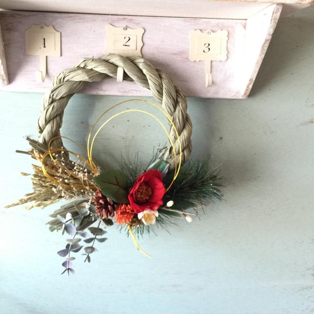 ユウカリと椿のお正月飾り
