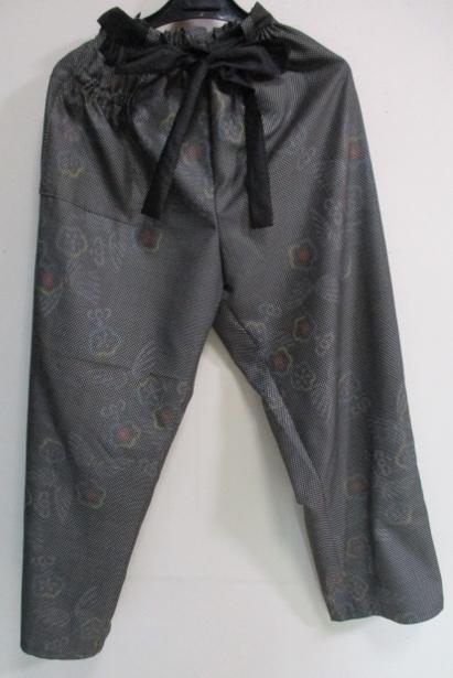 着物リメイク 着物で作ったパンツ 1...