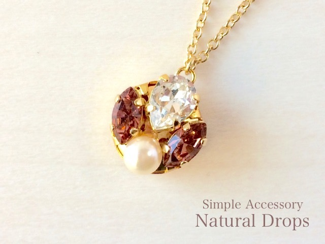 Rosy Crystal Necklace・・・426