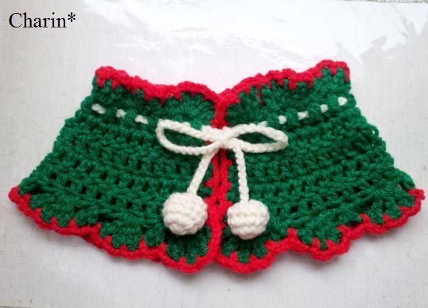 クリスマスのつけ襟