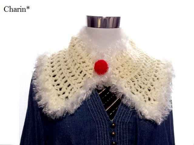 SALE!ホワイトクリスマスのつけ襟