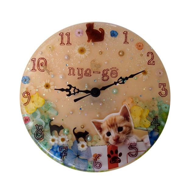 猫カフェnya-go様 開店記念 壁掛け時計