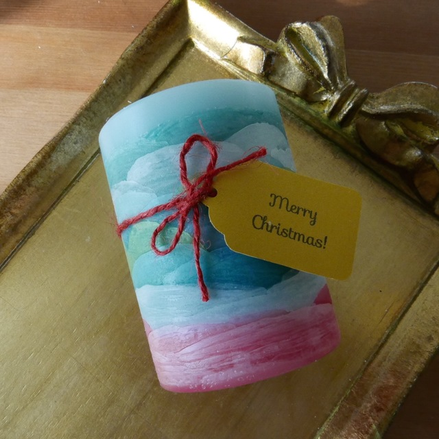 uroco candle for christmas - red~