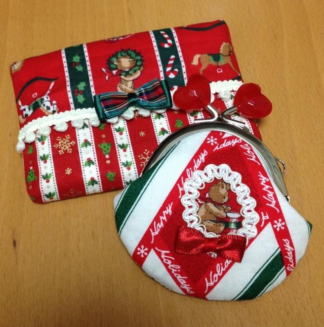 クリスマスベアのティッシュケース&ミ...
