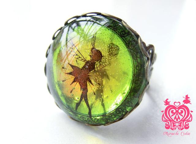 妖精の指輪 イエローグリーングラデーション