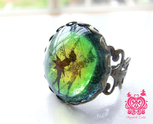 妖精の指輪 イエローブルーグラデーション