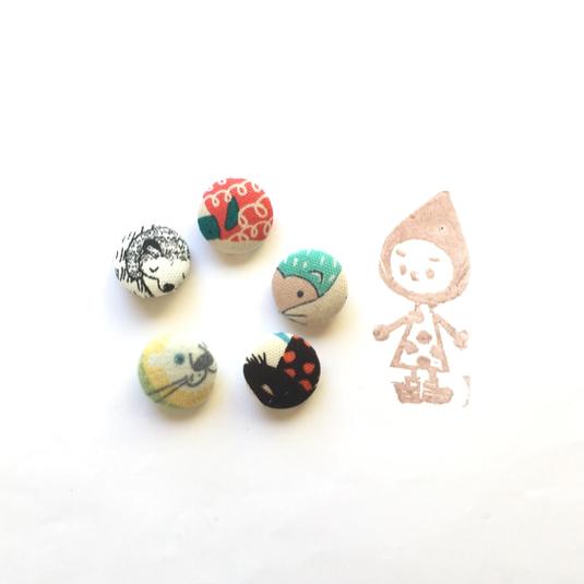 originalくるみボタンセット(2cm)