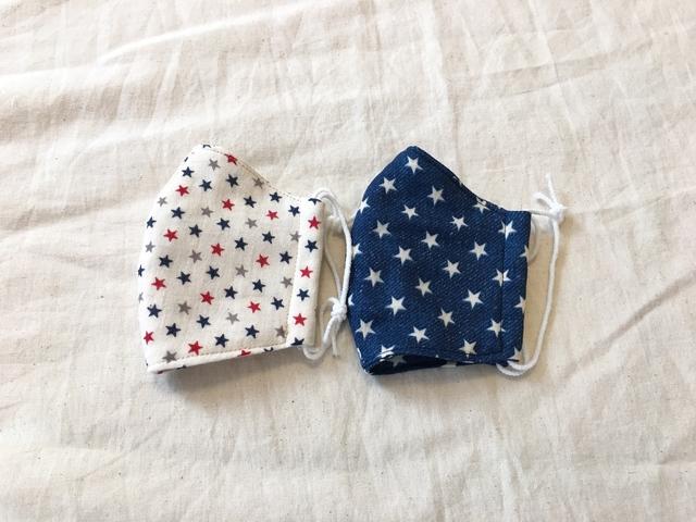 子供用4重ガーゼ立体マスク#アメリカン...
