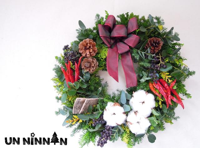 *7ナチュラル クリスマスリース